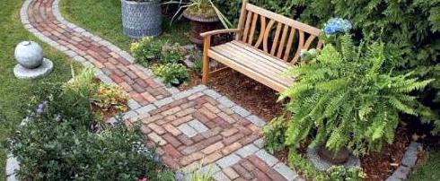 Садові доріжки з клінкерної цегли